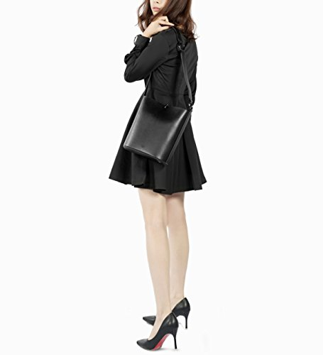 black Leather Classic Bags handbag for satchel Women's Bags vintage Bag holiday Lady Bag shopping Bucket large travel 7nYaxIqaf
