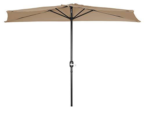 Trademark Innovations Patio Half Umbrella – 8 Teal
