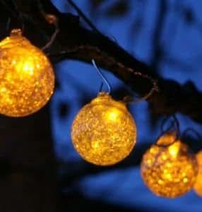 Aurora Glow String Solar Lights - Clear / Amber