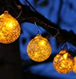 Aurora Glow String Solar Lights - Clear / Amber