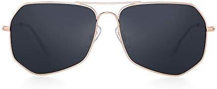 GLINDAR Polarized Aviator Sunglasses Men Women Lightweight Driving Glasses Metal Frame UV400
