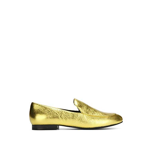 Kenneth Cole New York Women's Westley Slip on Loafer Flat Slip-On, Gold, 5.5