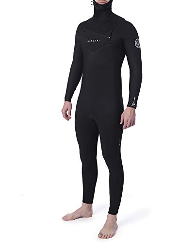 RIP CURL Dawn Patrol Herren,5/4 mm Steamer Neoprenanzug 2020,Chest Zip,Brust-Reissverschluss,Langarm,Thermoflex,Black,MT/183cm
