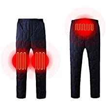 Heilsa Rechargeable Heated Pants, Adjustable USB Charging Heated Clothing Insulated Heating Underwear for Winter Outdoor/Indoor