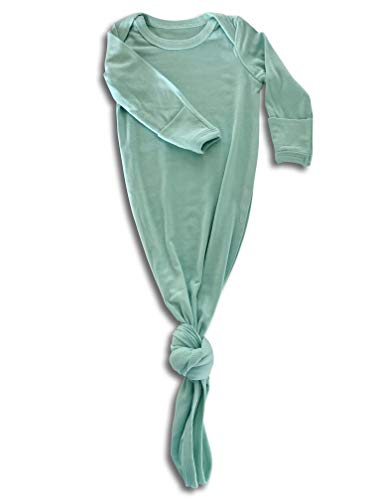 (Baby Gown Newborn, Knotted Infant Sleeper for Baby Girl and Boy in a Canvas Bag (Mint Green, 3-6 Months) )