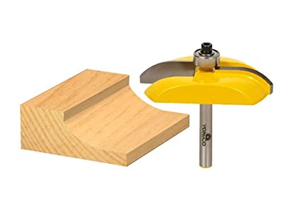 Yonico 12133q Raised Panel Router Bit with Carbide Tipped Cove 1/4-Inch Shank by Precision Bits.com