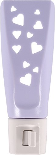 GE Lavender Hearts Incandescent Night