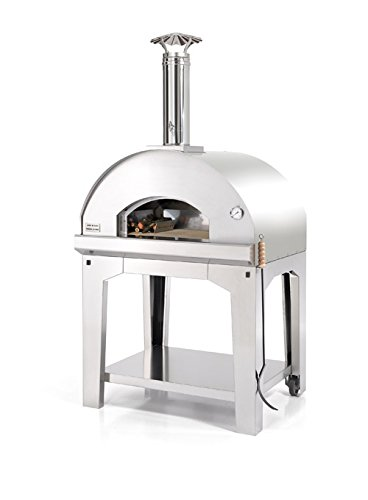 FONTANA FORNI Forno Toscano Mangiafuoco INOX Portable Wood Fired Oven, Medium, All Stainless Steel