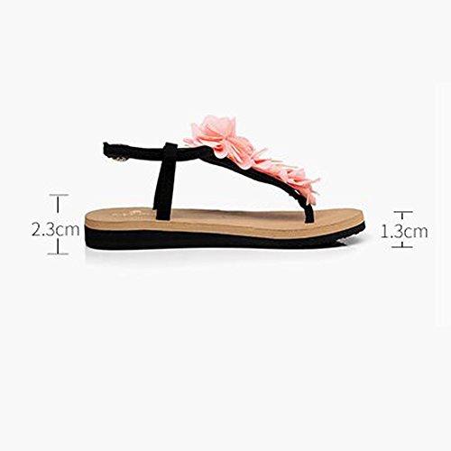 FEI Mädchen Sandalen Slope Mit Sandalen Weibliche Rutschige Flache Sandalen Student Schuhe Casual Schuhe Für 18-40 Jahre Rutschfest ( Farbe : 1001 , größe : 35 ) 1001