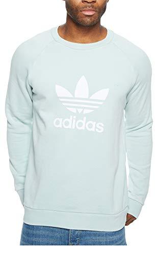 adidas Originals Men's Originals Trefoil Warm-up Crew, ash green, XS