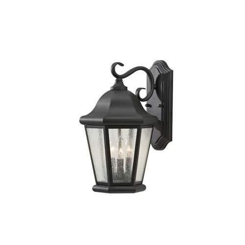 Feiss Martinsville Black 3-Light Outdoor Wall-Mounted Lantern - Outdoor Lantern Martinsville
