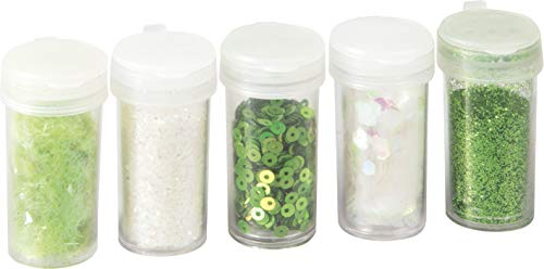 Knorr Prandell 218105494 Glitter Mix 5 Tube with 4 g, Colour: Green ()
