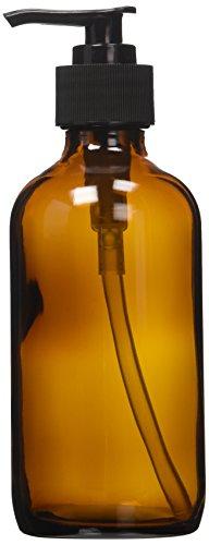Amber Glass Lotion Dispenser Black