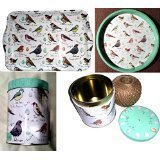 Elite Children's Set of TINS-Also 4 Piece MADELIENE Floyd Bird Birds Goldfinch Themed Matched Trays TIN TINS and String Caddy