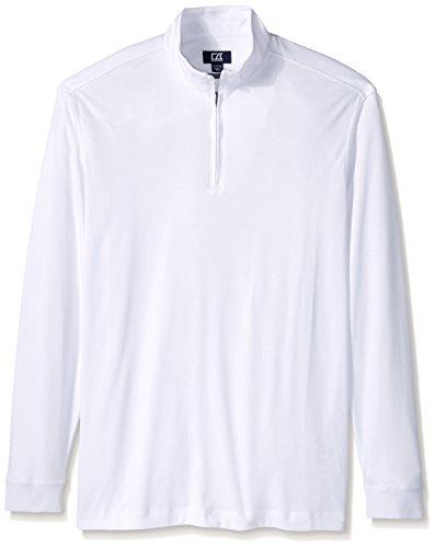 Cutter & Buck Men's Big-Tall Long Sleeve Belfair Pima Half-Zip, White, 4X (Pima Half Zip)