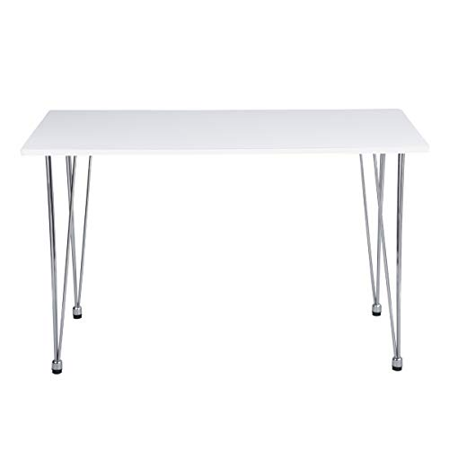 House in Box Modern Metal Base Dining Table White Coffee Table Modern Leisure Tea Table Large Dining Table,Table Only