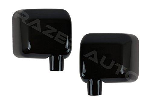 Razer Auto Glossy Black Full Mirror Cover for 07-17 Jeep Wrangler JK