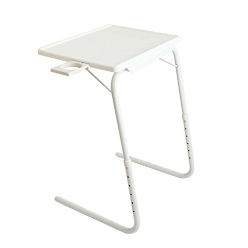 2x Smart Table Mate Folding Tablemate Adjustable Tray Foldable Desk W/Cup Holder - Tablemate Tray