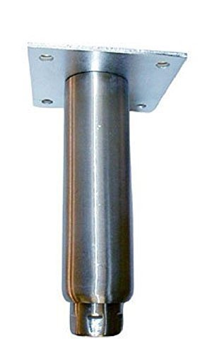 Heavy Duty Stainless Steel Adjustable Equipment Legs with Welded Mounting Plate and 3'' Adjustment by Component Hardware Group, Inc. by Component Hardware Group (Image #1)