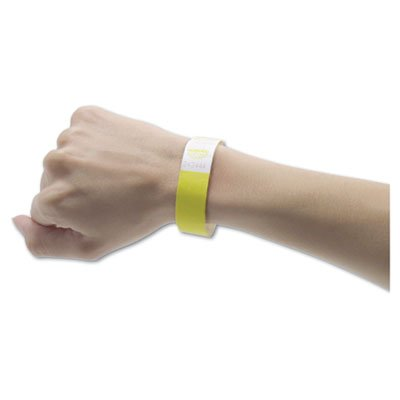 Advantus Products - Advantus - Crowd Management Wristbands, Sequentially Numbered, Yellow, 500/Pack - Sold As 1 Pack - Tyvek wristbands are the perfect way to identify guests. - Use wherever visual labels are required. - Sequentially numbered. - Adhesive closure. -
