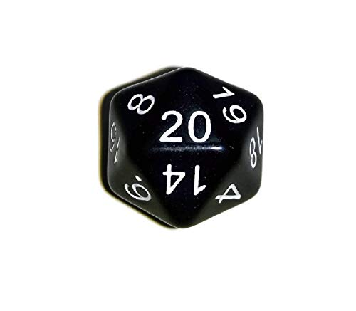 Black d20 Initiative Advantage Die for Role-Playing Games. 20 sided RPG Dice by Death Dealer Dice (22 Sided Dice)