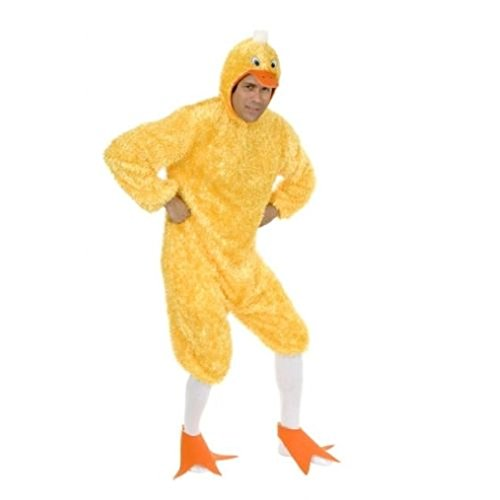 OvedcRay Adult Big Yellow Duck Quack Farm Animal Bird Costume Mens Womens