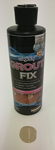 Cream Floor Tile - MagicEzy Grout Fix - Seals and Recolors Tile Crevices in One Application - Mid Beige