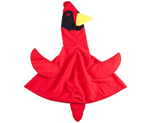 (MS HOME One Piece Goose Outfit Cardinal Bird, Red)