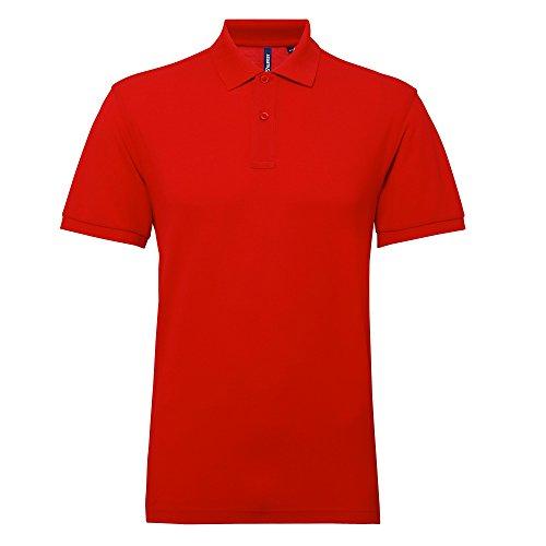 Asquith&Fox Herren Poloshirt (L) (Rot)