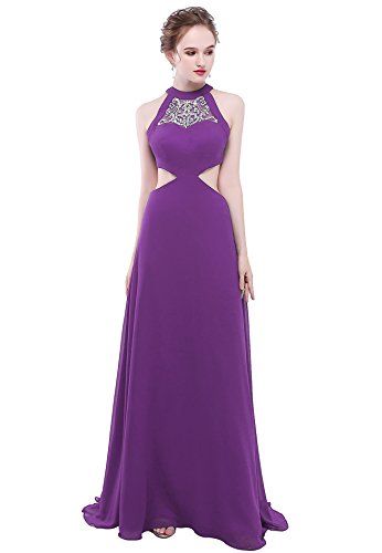 ... Evening Party Gowns Keyhole Back Beading Formal Prom Dresses Long H293  18W Purple.    200fd16f30b7