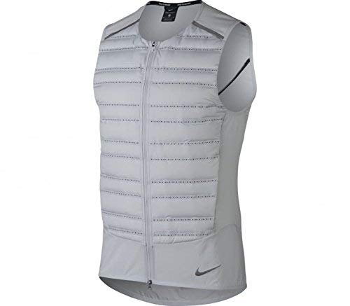 - NIKE Aeroloft Men's Running Vest (Pure Platinum/Black/Metallic Silver, Large)