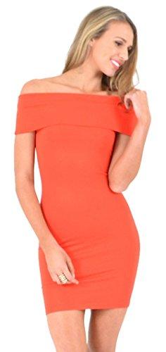 HarrowandSmith - Robe - Moulante - Femme orange Orange M,L