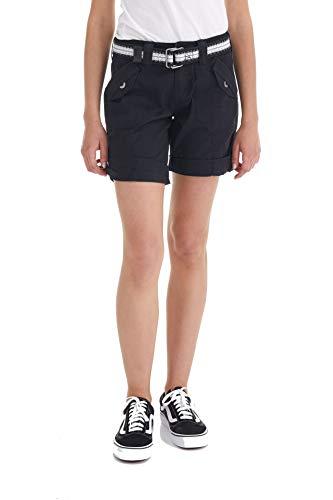 - Suko Women's Cargo Bermuda Shorts Adjustable Length with Belt 47050 Black 6