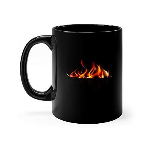 Burning Fire Flame On Black Background Eps10 Pitmasters Favorite Drink Mug 11oz Ceramic ()