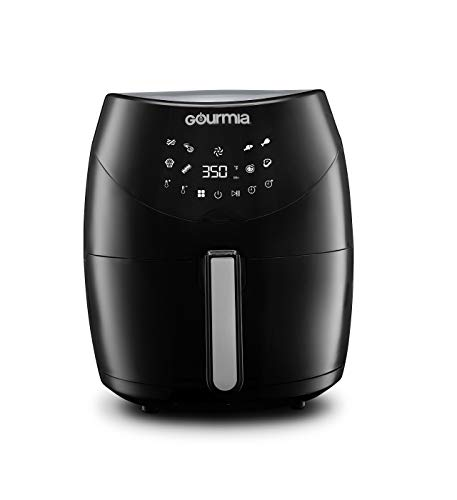 Gourmia GAF658 Digital Free Fry Air Fryer- No Oil Healthy Frying – LCD Display – 8 Presets – 1700 Watt – 6 Qt Basket Pan – Recipe Book Included
