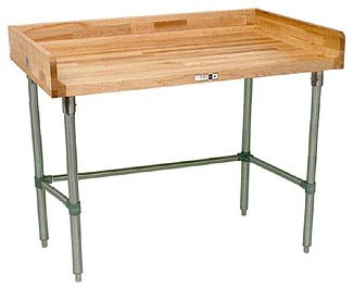 Work Table w Coved Riser Rear (60 in. x 24 in. - Galvanized)