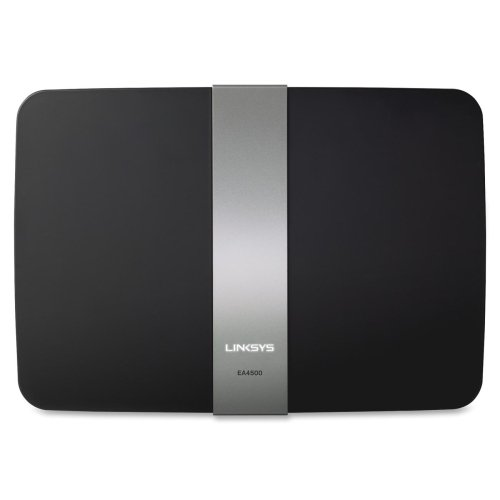 - Linksys EA4500 IEEE 802.11n Wireless Router - 2.40 GHz ISM Band - 5 GHz UNII Band - 6 x Antenna - 900 Mbps Wireless Speed - 4 x Network Port - 1 x Broadband Port - USB - Gigabit Ethernet Desktop