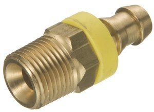 1/4'' Hose x 1/4'' Male NPT Brass Barb-Tite Hose Barb, (Package of 10) by Eaton Weatherhead