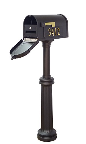 Special Lite Products Company Berkshire Curbside Mailbox With Front And Side Address Numbers, Locking Insert And Bradford Mailbox (Bradford Mailbox Post)