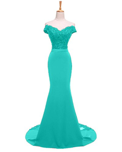 Dresses Mermaid Beaded Gowns Evening Bridal Turquoise Long Women's Prom Sweet Lace qwnR1z4Cx