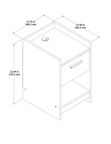 home, kitchen, furniture, bedroom furniture,  nightstands 7 discount Homestar Central Park 1 Drawer Nightstand, 15.98 in USA