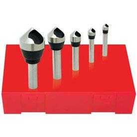 Made in USA HSS Zero Flute Countersink & Deburring Tool Set 82176; #0 - #4 ()