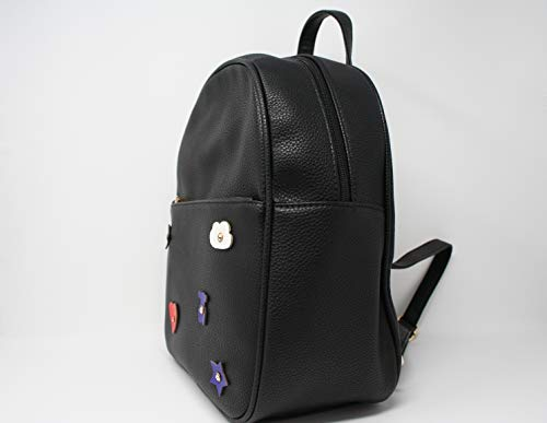 Teddy Women Girls Casual or Bear Maia Leather for Fashion Bag Patch Backpack Black Aj188 044Rwqgvx