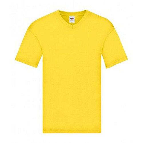 Fruit of the Loom Camiseta de Cuello EN V Modelo Original Para Hombre XJrcv8G