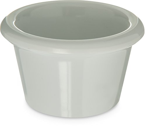 Carlisle S27502 Melamine Smooth Ramekin, 1.5 oz, Melamine, White (Case of 48)
