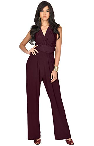 KOH KOH Womens Infinity Convertible Wrap Party Cocktail Jumpsuit Romper Pants
