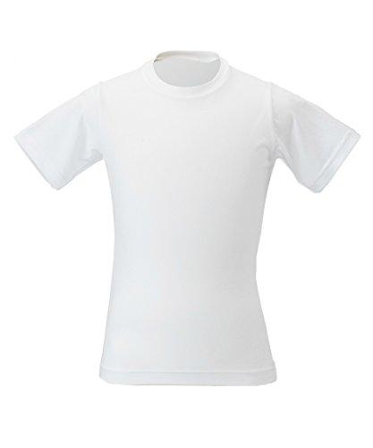 ブラウザ即席受け入れビジョンクエスト ジュニア アンダーウェア 半袖 アンダーシャツ クルーTシャツ VQ451501G03 WH 140