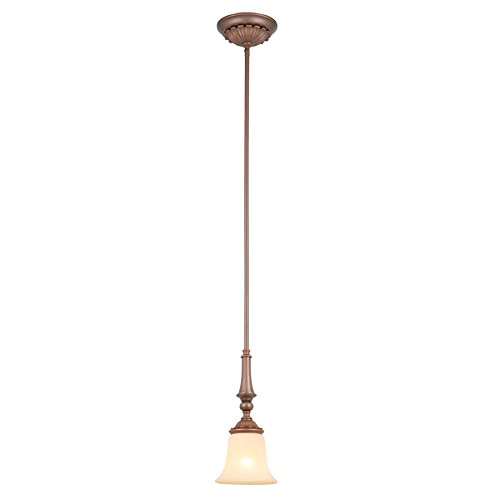 es 6-in Oil-Rubbed Bronze Mediterranean Mini Tinted Glass Bell Pendant ()