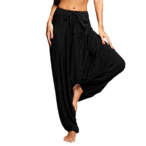 - Ulanda_Women Leggings Womens Yoga Pants Plus Size Solid Casual Loose Harem Pants Women Casual Jumpsuit Baggy Trousers