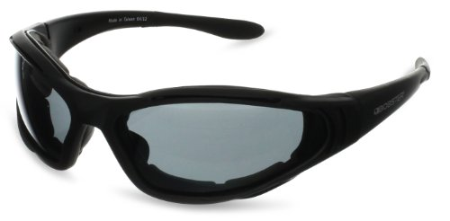 Bobster Raptor 2 Interchangeable Sunglasses, Black Frame/3 Lenses (Smoked, Amber and Clear) (Bobster Motorcycle Womens Sunglasses)